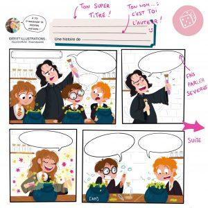 Une BD harry Potter dont tu es l'auteur !