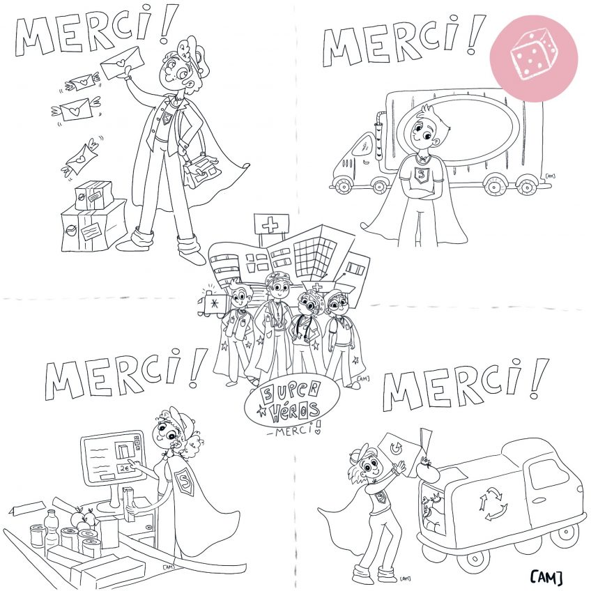 Merci ! – Coloriage
