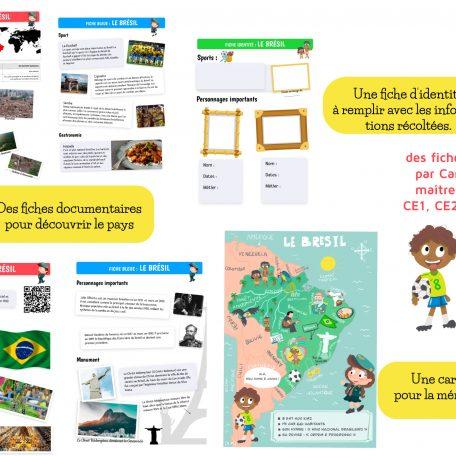 Fiches documentaires, Questionner le Monde, sur le Brésil.