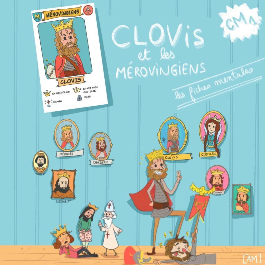 Clovis et la dynastie des mérovingiens, en un coup d'oeil.